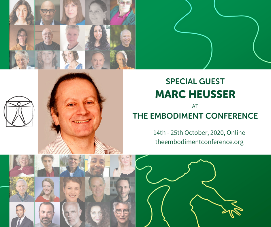 Marc Heusser as a guest at he empe the embodiment conference 14 to 25 October 2020 online, theembodimentconference.org